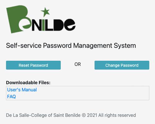 Benilde's Self-Service Password Management System